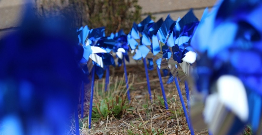 The blue pinwheel is the national symbol for child abuse prevention, serving as the reminder of the happy, playful childhoods desired for all children.